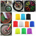 bicycle wheel spoke covers - 72 Wheel Spoke Wrap Skin Coat Trim Cover Pipe Motorcycle Motocross Dirt Bike