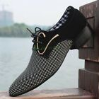 CHIC Men's Shoes Fashion Leisure Pointy Toe Business Lace Up Wedding Metal Decor