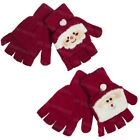 Ladies Santa Novelty Capped Mittens Gloves Adults Christmas Stocking Filler Gift