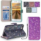 For iPhone, Samsung, LG, MOTO & Google Mobiles Glitter Wallet Stand Pouch Cover