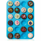 24 Cavity Muffin Silicone Mould Cookies Cupcake Pan Soap Tray Cake Baking Mold