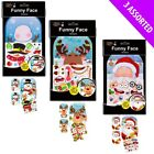 Christmas Funny Face Stickers - Santa Snowman Reindeer - Xmas Decoration Craft