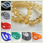 Bulk Lots 50Pcs Faceted Glass Beads Spacer Rondelle Finding Jewelry 8x6mm Charms