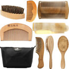 Beard Brush Boar Bristle Comb Mens Mustache Care Tool , Mens Best Grooming Kit