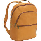 Le Donne Leather Computer Back Pack 3 Colors Business  Laptop Backpack NEW