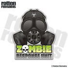 Zombie Gas Mask Response Unit Decal Biohazard Outbreak Gloss Sticker HGV