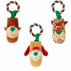 Christmas Gift Dog Toy Petface Tug & Squeak : Choice of Design : Rope & Squeaker
