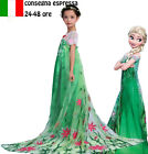 CARNEVALE COSTUME FROZEN dress bambina ANNA VESTITO BIMBA TRAVESTIMENTO new 815