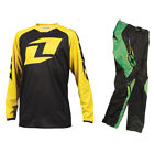NO FEAR YOUTH ROGUE NEON GREEN MOTOCROSS MX KIT with ONE YELLOW kids jersey
