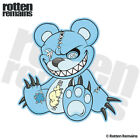 Zombie Teddy Bear Decal Blue Dead Cute Zombies Gloss Sticker (LH) HGV
