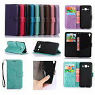 For LG IPHONE Sony Series Phone Strap Emboss Leather Wallet Card Case Cover GY