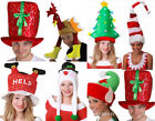 4 PACK CHRISTMAS HATS XMAS OFFICE PARTY FANCY DRESS FUNNY NOVELTY SANTA CLAUS