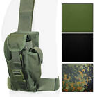 Tactical MOLLE PISTOL LEG HOLSTER Mag Pouch Airsoft Gun Webbing - Colour Option