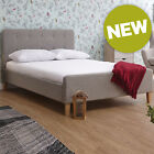 New - GFW Ashbourne Hopsack Upholstered Bed Frame - 3FT/4FT6/5FT Size Options