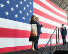 President Donald Trump and Melania at Yokota Air Base in Japan Photo Print