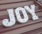 JOY Battery Operated Marquee Metal Letters Vintage Rustic Sign Light 24 COLORS!