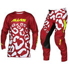 ALIAS MX YOUTH MOTOCROSS KIT CHEETAH MAROON / WHITE pants jersey shirt trousers