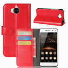 """For 5.0"""" Huawei Y5 Y6 2017 Smartphone Stand PU Leather Flip Fashion Case Cover"""