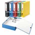 10 COLOURED STRONG BOX FILES-Fits A4/Foolscap Paper-Binder Folder Colour Choice©