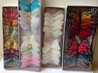 Wholesale LOT 12 Feather Butterflies Pick Size Crafts Weddings Floral Supplies