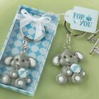 Adorable Baby Elephant w/ Blue Key Chain Baby Boy Shower Favors Lots of 25-144