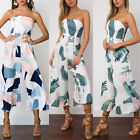 Women Off Shoulder Jumpsuit Ladies Party Casual Romper Trousers Overall Playsuit