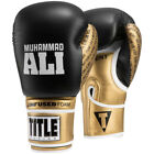 Внешний вид - Title Boxing Ali Infused Foam Hook and Loop Training Boxing Gloves - Black/Gold