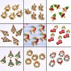 DIY Lucky Charm Christmas Tree Shape Pendant Fit Necklace Earring Gift Wholesale