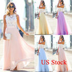 fashion dress - Womens Formal Maxi Dress Bridesmaid Evening Party Prom Ball Gown Tulle Sundress