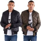 Loyalty & Faith Mens Plus King Size Casual Zip Puffer Bomber Jacket Quilted Coat