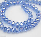 70pcs 6x8mm Blue Multicolor Crystal Faceted Roundel Gems Loose Beads @147