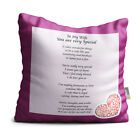 Wife You are Very Special Purple Floral Design Poem Throw Pillow