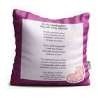 Stepdaughter You are Very Special Purple Floral Design Poem Throw Pillow