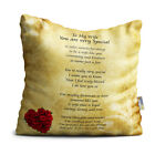 Wife You are Very Special Beautiful Vintage with Red Roses Poem Throw Pillow