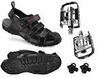 EXUSTAR Unisex Trekking Outdoor Bicycle Shoes Cycling Bike Sandals with Pedals