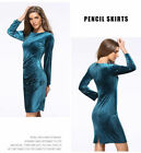 Polyester Long Sleeve Party Evening Cocktail Mini Dress New Women Formal O6613