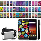"For ZTE Tempo X N9137 Blade Vantage Z839 5"" Brushed Hybrid Cover Case + Pen"