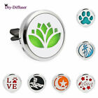 1PC 316L+Alloy Car Vent Clip Air Freshener Aroma Essential Oil Diffuser Lockets