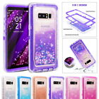 Glitter Bling Flowing Liquid Clear Hybrid Case Cover For Samsung Note 8 S8 Plus
