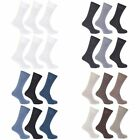 FLOSO Womens/Ladies Plain 100% Cotton Socks (Pack Of 6) (W208)