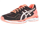 ASICS WOMENS GEL KAYANO 23 BLACK SILVER FLASH CORAL SHOES *ALL SIZES BEST SELLER