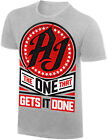 WWE AJ STYLES The One That Gets It Done OFFICIAL AUTHENTIC T-SHIRT