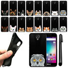 For BLU R1 HD Cat Design TPU Black SILICONE Soft Phone Case Cover + Pen