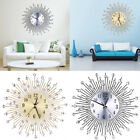 Large Wall Clock Sun Shape Diamond Wall Clocks Home Office Decoration Two Colors