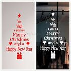 Merry Christmas & Newyear Tree Wall Stickers Vinyl Decal Window Removable