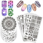 Born Pretty Nail Art Stamping Plates Flower Lace Cat Snowflake Image Templates