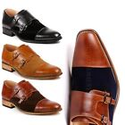 Two Tone Mens Cap Toe Double Monk Strap Oxford Classic Dress Shoes