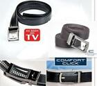 NEW Comfort Click Belt Leather With Steel Brown/ Black For Men As Seen on TV 97K