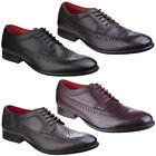 Base London Bailey Wing Tip Brogues Mens Leather Lace Up Formal Shoes