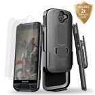 For Kyocera DuraForce Pro E6820 Kickstand Case Holster Belt Clip Tempered Glass
